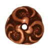 Bead Cap Lily 8mm Antique Copper